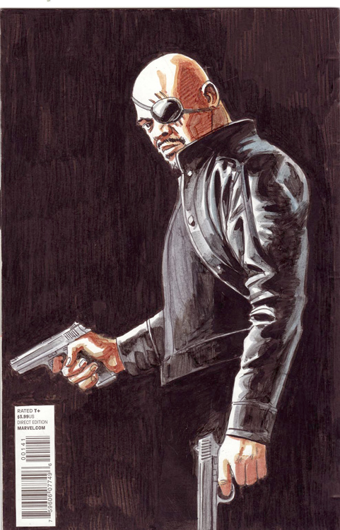 Nick Fury Back by Vicente Alcazar