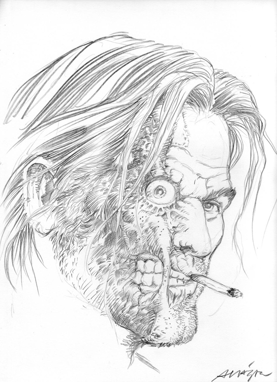 Jonah Hex pencil by Vicente Alcazar